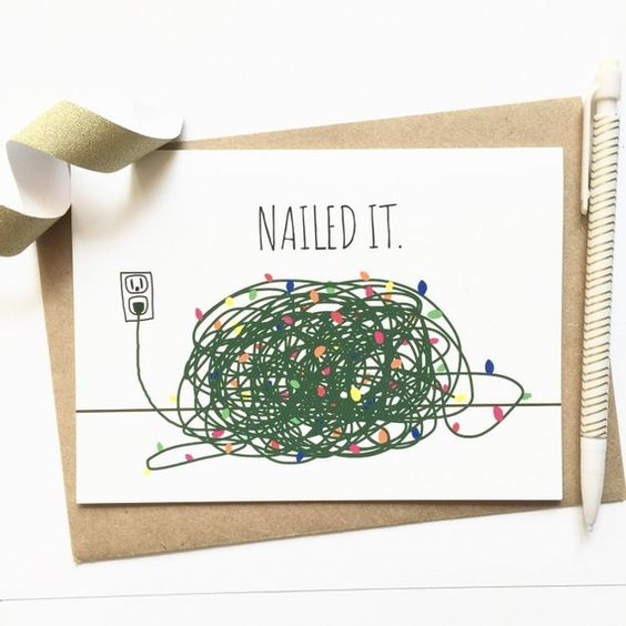 christmas card - fun card
