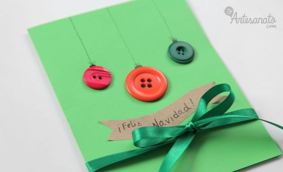 christmas card - simple card with button