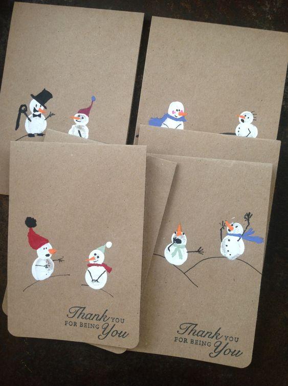 cartão de natal - cartões com bonecos de neve