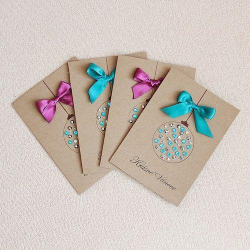 cartão de natal - cartões de natal com lantejoulas