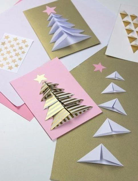 christmas card - colorful decorated cards