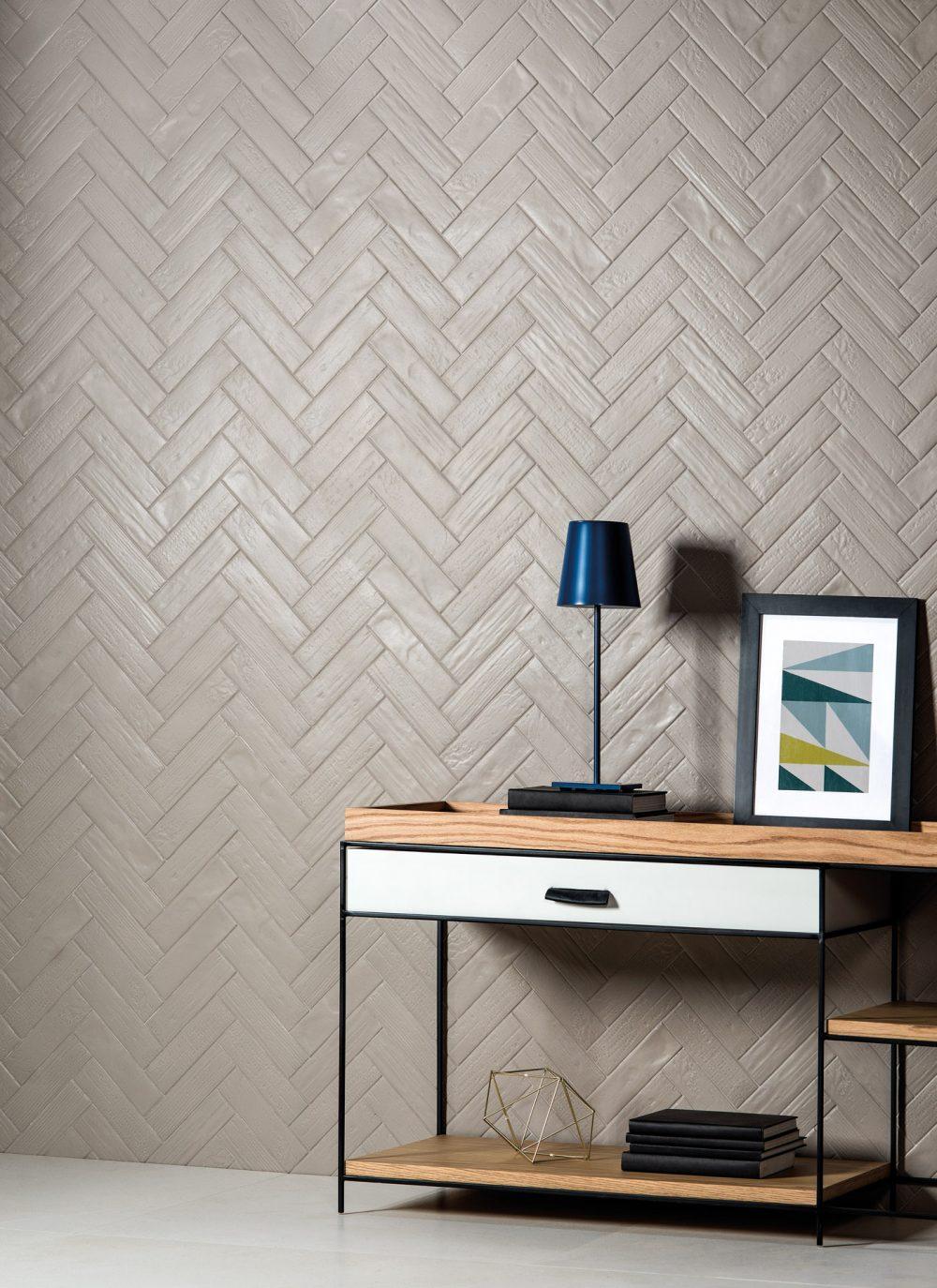 cerâmica para parede - sala de estar com parede de cerâmica