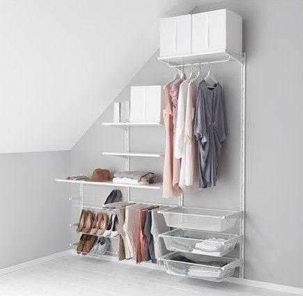 closet aberto - close de canto simples