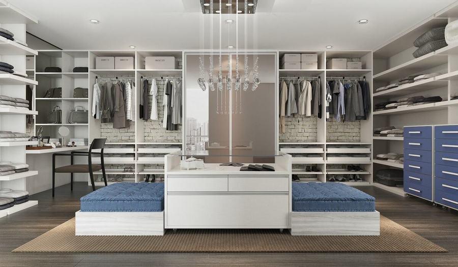 closet aberto - closet aberto com bancos