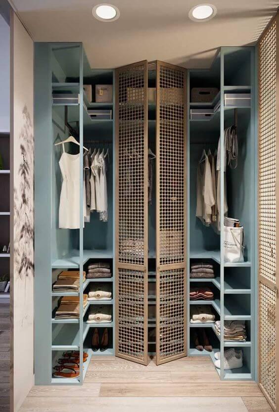 closet aberto - closet aberto com marcenaria azul