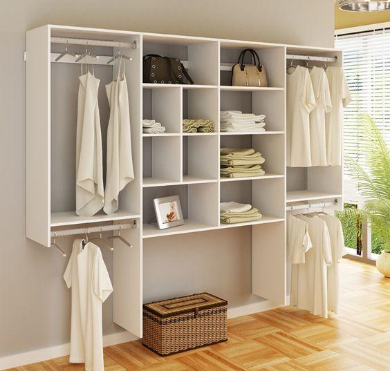 closet aberto - closet aberto com marcenaria branca