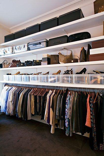 closet aberto - closet aberto com porta trecos para sapatos