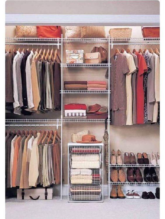 closet aberto - closet aramado branco