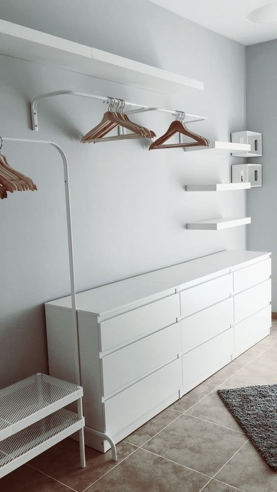 closet aberto - closet branco