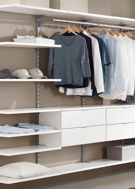 closet aberto - closet branco com prateleiras grandes