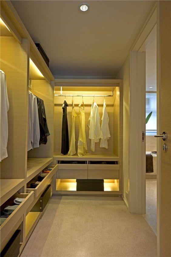 closet aberto - closet branco planejado