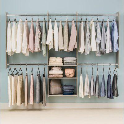 closet aberto - closet com cabideiros