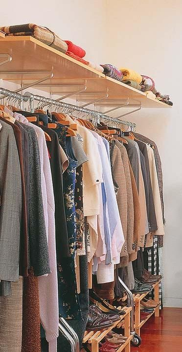 closet aberto - closet com estrutura simples