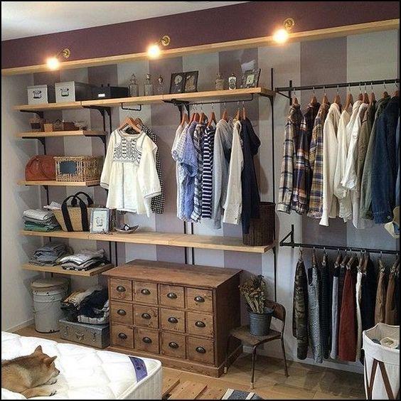 closet aberto - closet com gaveteiro clássico