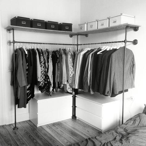 closet aberto - closet com gaveteiros