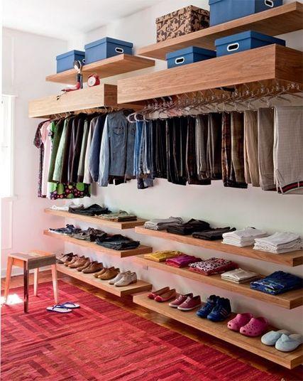 closet aberto - closet de marcenaria