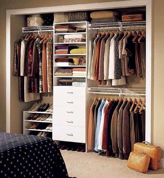 closet aberto - closet embutido em parede