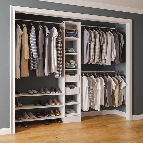 closet aberto - closet pequeno embutido em parede