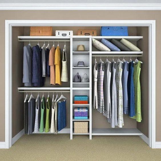 closet aberto - closet simples embutido em parede