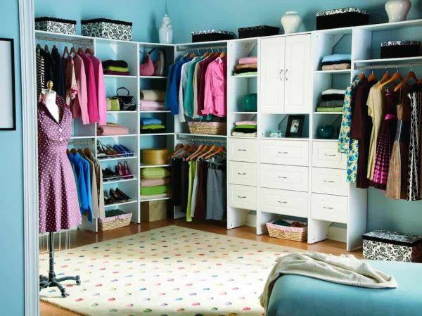 Closet feminino branco e personalizado