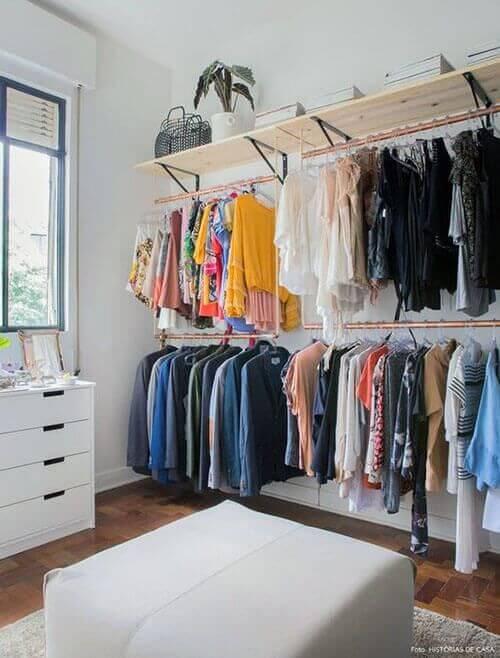 Closet feminino simples