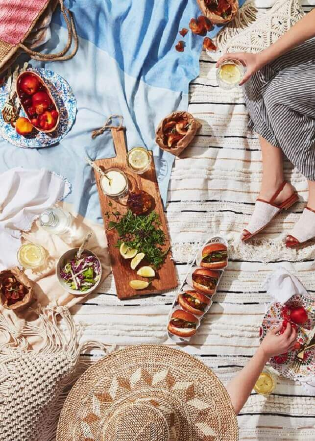 comidas para piquenique Foto Anthropologie