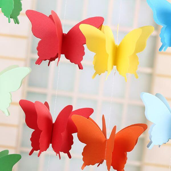 cortinas de borboletas de papel