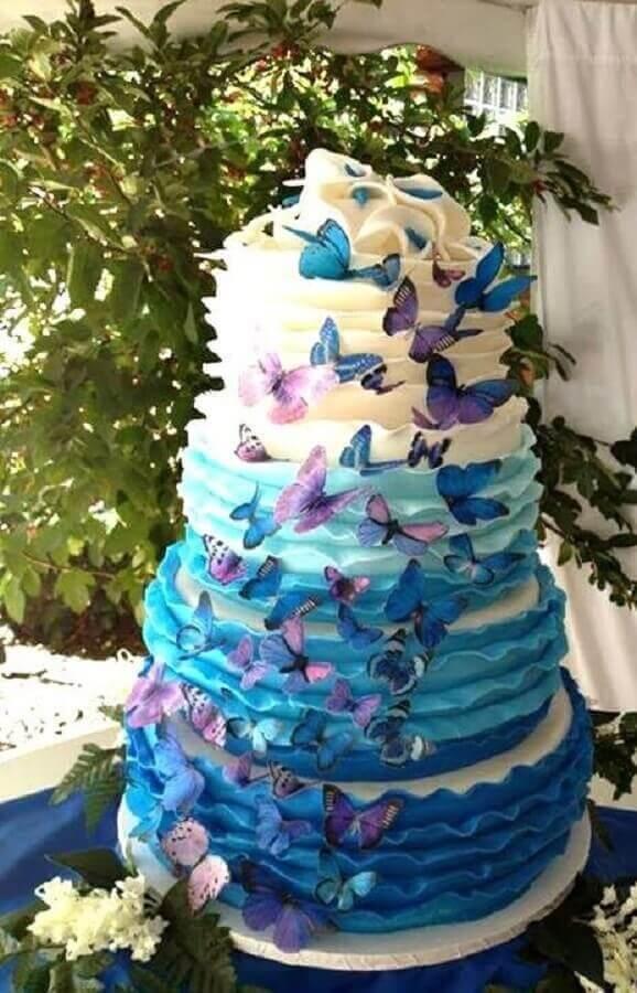 Como fazer borboletas de papel em tons de rosa e azul