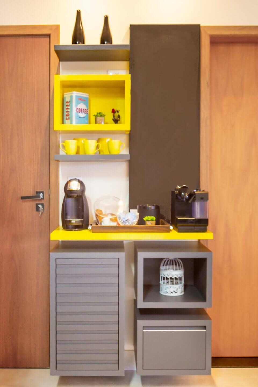 cor amarela - área de café