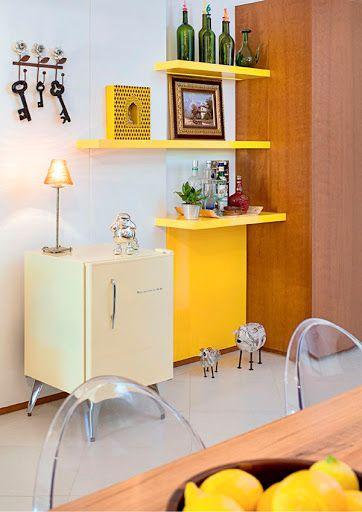 cor amarela - cozinha com móveis amarelos