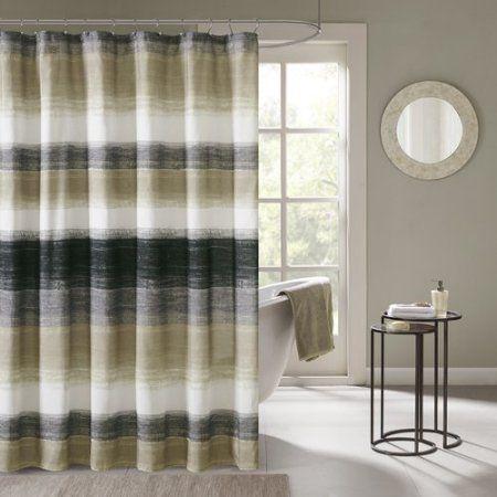 cortina para banheiro - cortina com listras
