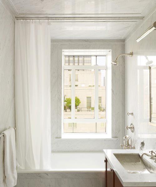 cortina para banheiro - cortina de banheiro branca simples