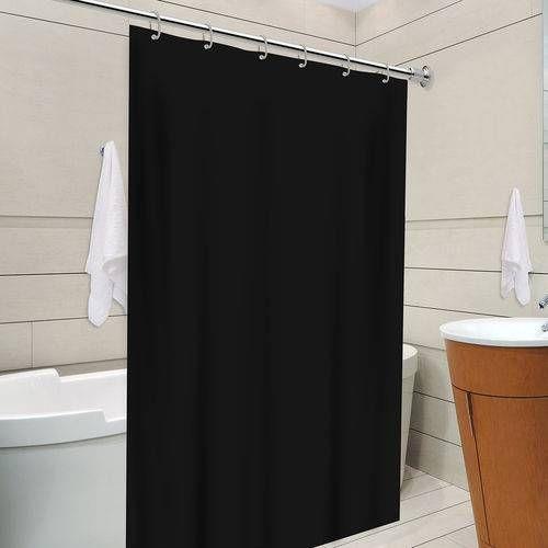 cortina para banheiro - cortina inteiramente preta