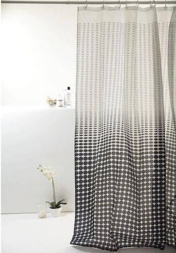cortina para banheiro - cortina quadriculada preto e branca