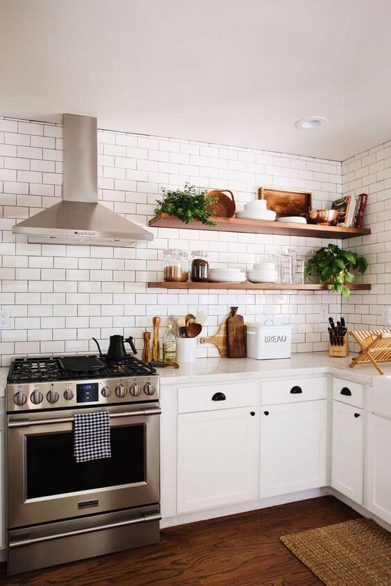 Cozinha escandinava modulada