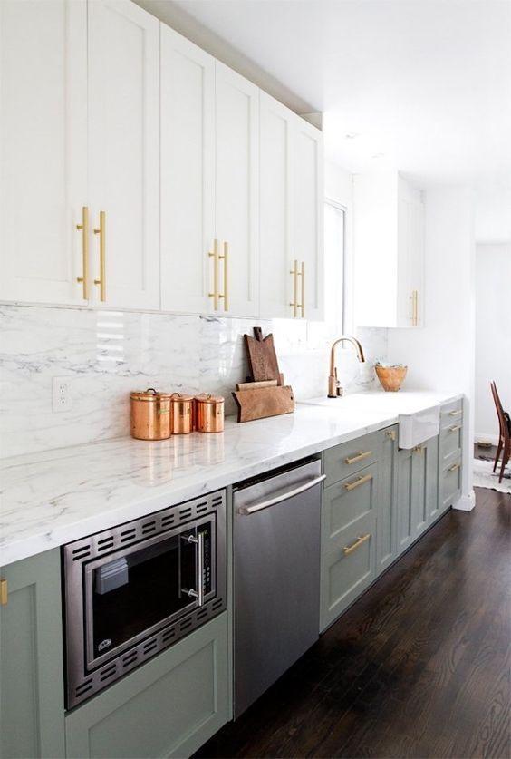 cozinha escandinava cinza moderna