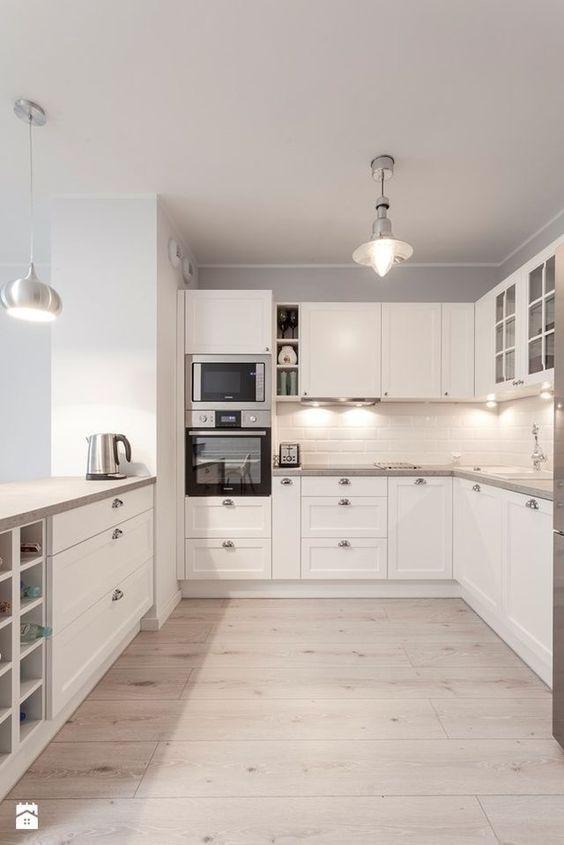 Cozinha escandinava modulada branca