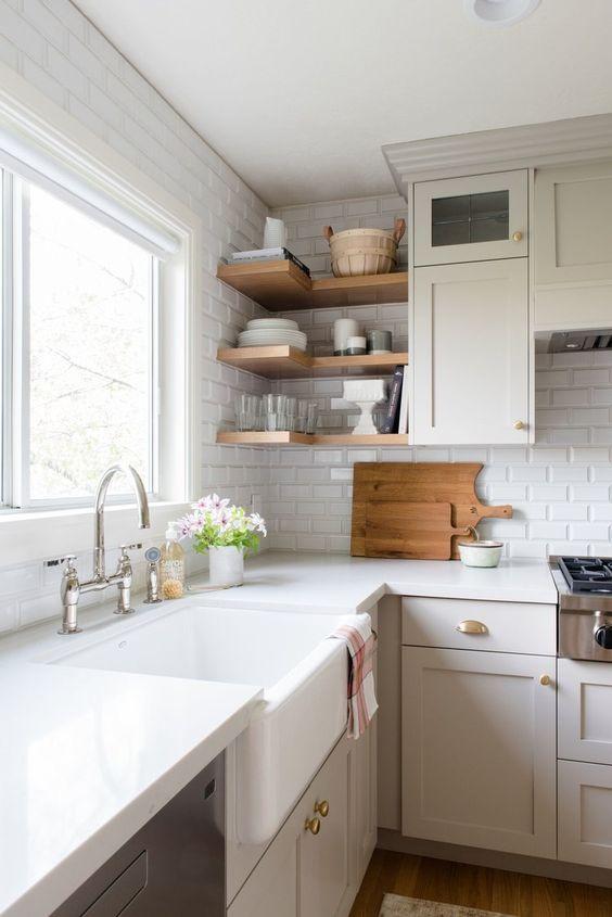 Cozinha escandinava branca