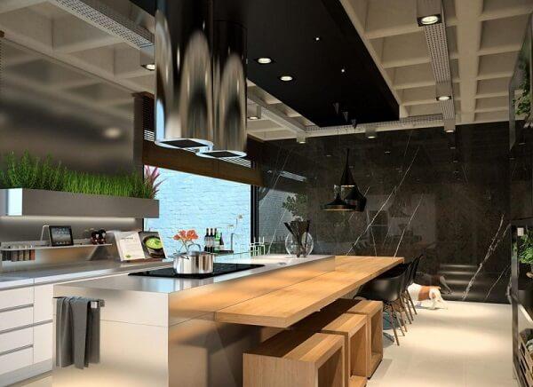Spot de luz para a bancada da cozinha