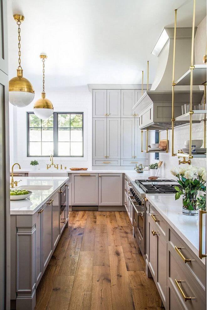 cozinha escandinava cinza