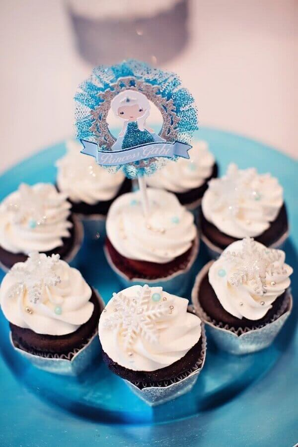 cupcake decorado para festa infantil da frozen Foto Catch my Party