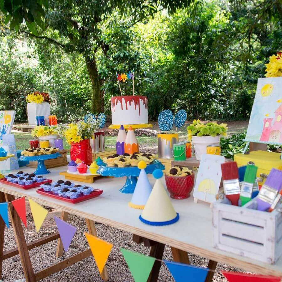 decoração colocaria para festa de aniversário piquenique Foto Natália Escudeiro