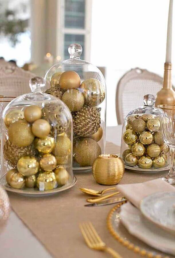 Christmas decoration with golden balls in glass bubbles Photo The Home Decor Ideas