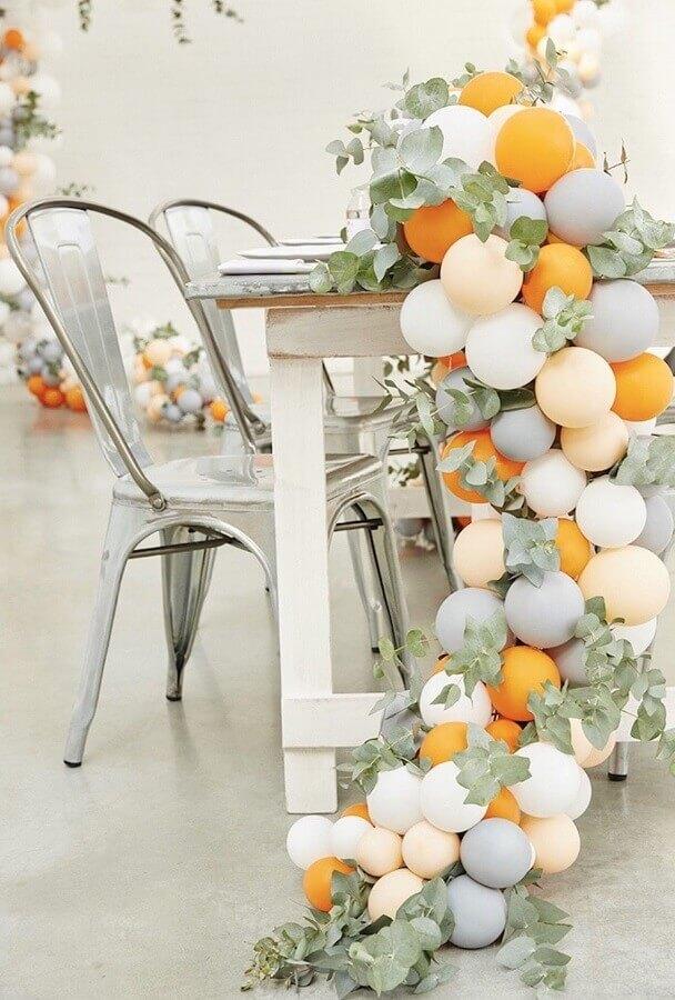 decoração de réveillon com balões e folhagens Foto Flowers Idea Decorations