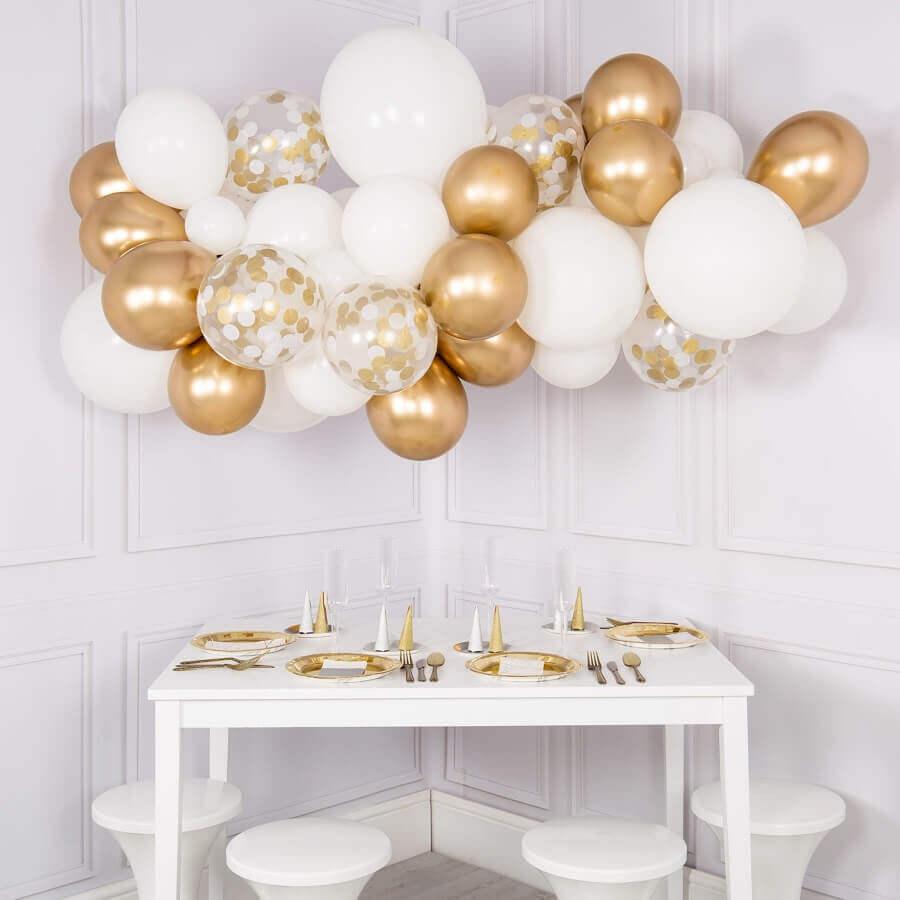 decoração de réveillon simples com balões Foto The Original Party Bag Company