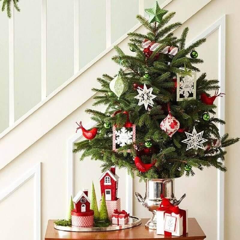 decoração divertida para árvore de Natal pequena Foto Christmas Glitter