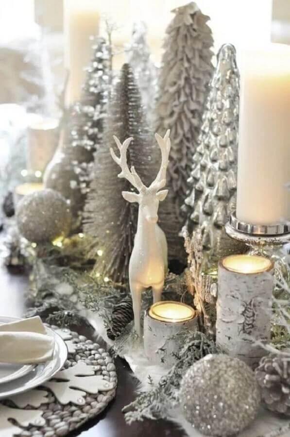 decoração mesa réveillon prata Foto Tanya's Design