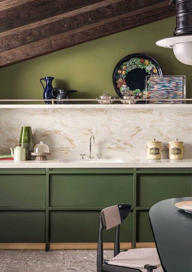 decoração para cozinha na cor verde musgo Foto Archiexpo