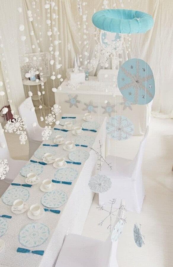decoração para festa simples da frozen Foto Pinterest