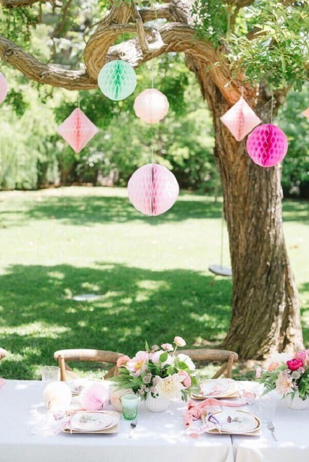 decoração para piquenique romântico Foto Pinterest